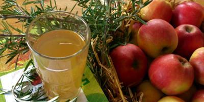 Frisch im Angebot: Apfelsaft